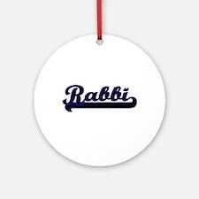 Rabbi Classic Job Design Ornament (Round)