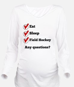 Eat Sleep Field Hockey Checklist Long Sleeve Mater