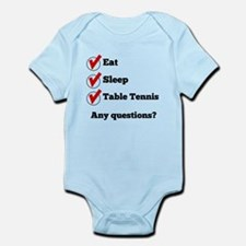 Eat Sleep Table Tennis Checklist Body Suit