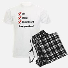 Eat Sleep Snowboard Checklist Pajamas