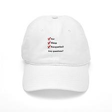 Eat Sleep Racquetball Checklist Baseball Baseball Cap