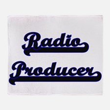 Radio Producer Classic Job Design Throw Blanket