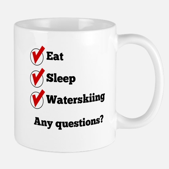 Eat Sleep Waterskiing Checklist Mugs