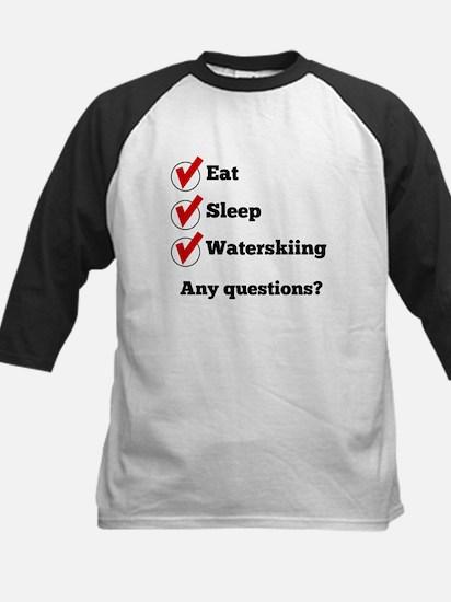 Eat Sleep Waterskiing Checklist Baseball Jersey