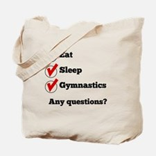 Eat Sleep Gymnastics Checklist Tote Bag