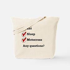 Eat Sleep Motocross Checklist Tote Bag