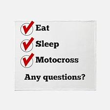 Eat Sleep Motocross Checklist Throw Blanket