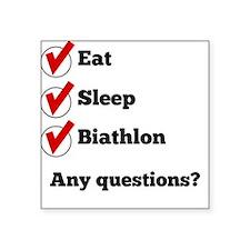 Eat Sleep Biathlon Checklist Sticker