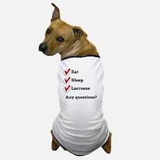 Eat Sleep Lacrosse Checklist Dog T-Shirt