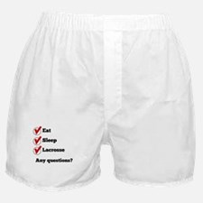 Eat Sleep Lacrosse Checklist Boxer Shorts