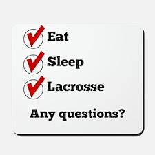 Eat Sleep Lacrosse Checklist Mousepad