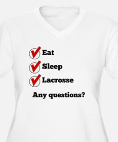 Eat Sleep Lacrosse Checklist Plus Size T-Shirt