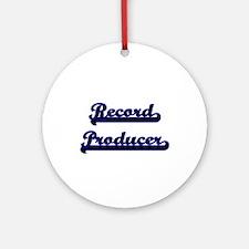 Record Producer Classic Job Desig Ornament (Round)