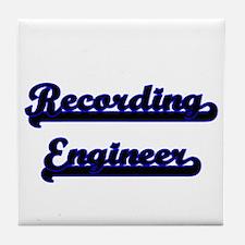 Recording Engineer Classic Job Design Tile Coaster