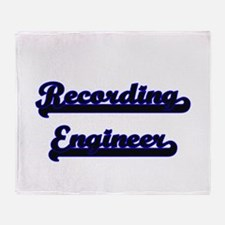 Recording Engineer Classic Job Desig Throw Blanket
