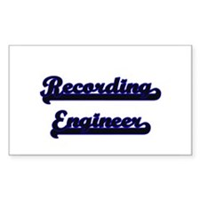 Recording Engineer Classic Job Design Decal