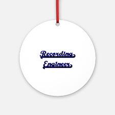 Recording Engineer Classic Job De Ornament (Round)