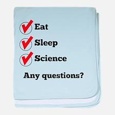Eat Sleep Science Checklist baby blanket