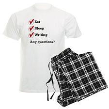Eat Sleep Writing Checklist Pajamas