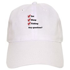 Eat Sleep Fishing Checklist Baseball Baseball Cap