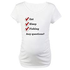 Eat Sleep Fishing Checklist Shirt