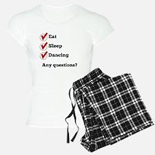 Eat Sleep Dancing Checklist Pajamas