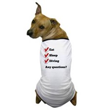 Eat Sleep Diving Checklist Dog T-Shirt