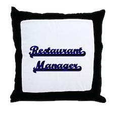 Restaurant Manager Classic Job Design Throw Pillow