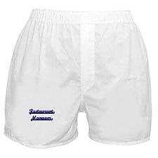 Restaurant Manager Classic Job Design Boxer Shorts