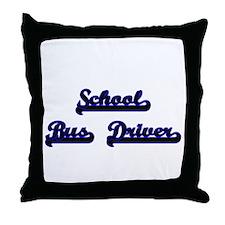 School Bus Driver Classic Job Design Throw Pillow
