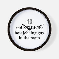40 still best looking 1C Wall Clock
