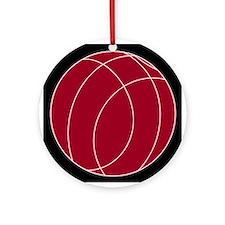 Red Bocce Ball Ornament