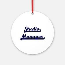 Studio Manager Classic Job Design Ornament (Round)