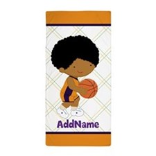 Curly Hair Basketball Kid Personalized Beach Towel