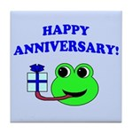 HAPPY/HOPPY ANNIVERSARY Tile Coaster