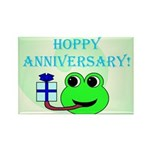 HAPPY/HOPPY ANNIVERSARY Rectangle Magnet (100 pack