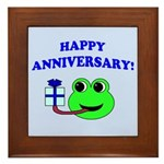 HAPPY/HOPPY ANNIVERSARY Framed Tile