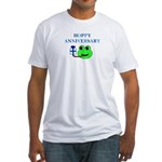 HAPPY/HOPPY ANNIVERSARY Fitted T-Shirt