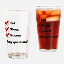 Eat Sleep Soccer Checklist Drinking Glass