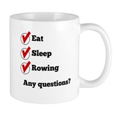 Eat Sleep Rowing Checklist Mugs