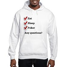 Eat Sleep Poker Checklist Hoodie