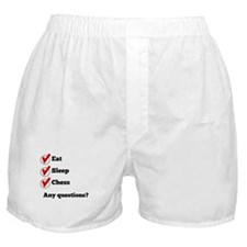 Eat Sleep Chess Checklist Boxer Shorts