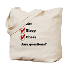 Eat Sleep Chess Checklist Tote Bag