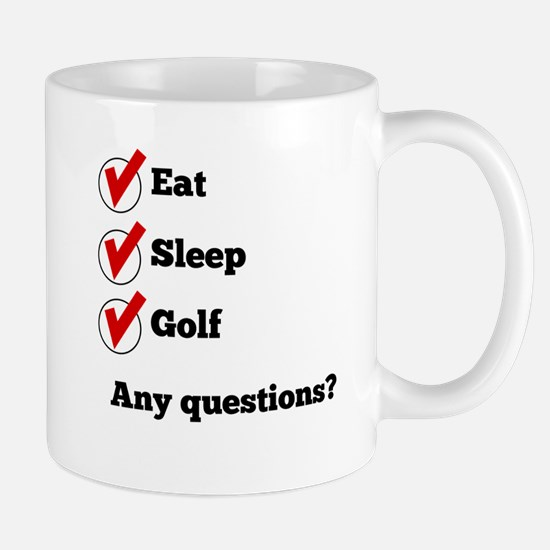 Eat Sleep Golf Checklist Mugs
