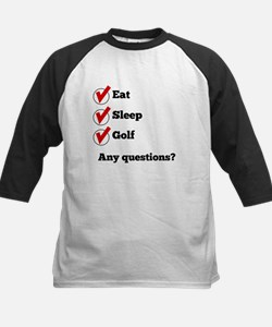 Eat Sleep Golf Checklist Baseball Jersey