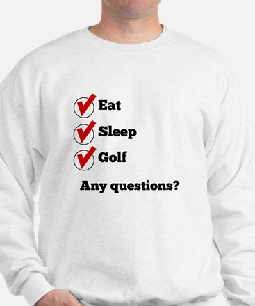 Eat Sleep Golf Checklist Sweatshirt