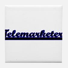 Telemarketer Classic Job Design Tile Coaster