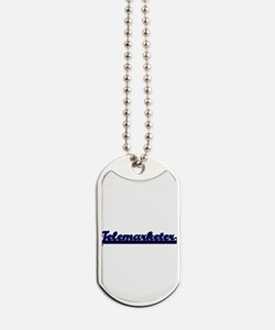 Telemarketer Classic Job Design Dog Tags