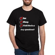 Eat Sleep Field Hockey Checklist T-Shirt