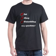 Eat Sleep Waterskiing Checklist T-Shirt